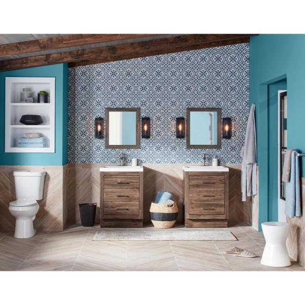 Glacier Bay 2 Piece 1 1 Gpf 1 6 Gpf High Efficiency Dual Flush Complete Elongated Toilet In White Seat Included 9 Pack N2316 The Home Depot