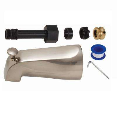 Mixet Universal 5-1/8 in. Diverter Tub Spout in PVD Satin Nickel