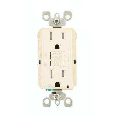 15 Amp SmartlockPro Weather/Tamper Resistant GFCI Outlet, Light Almond