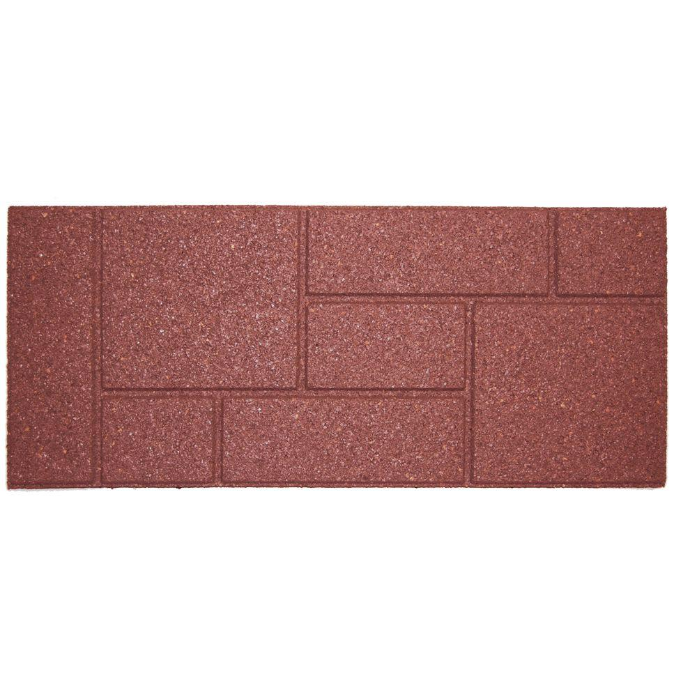 10 in. x 24 in. Terra Cotta Cobblestone Stair Tread