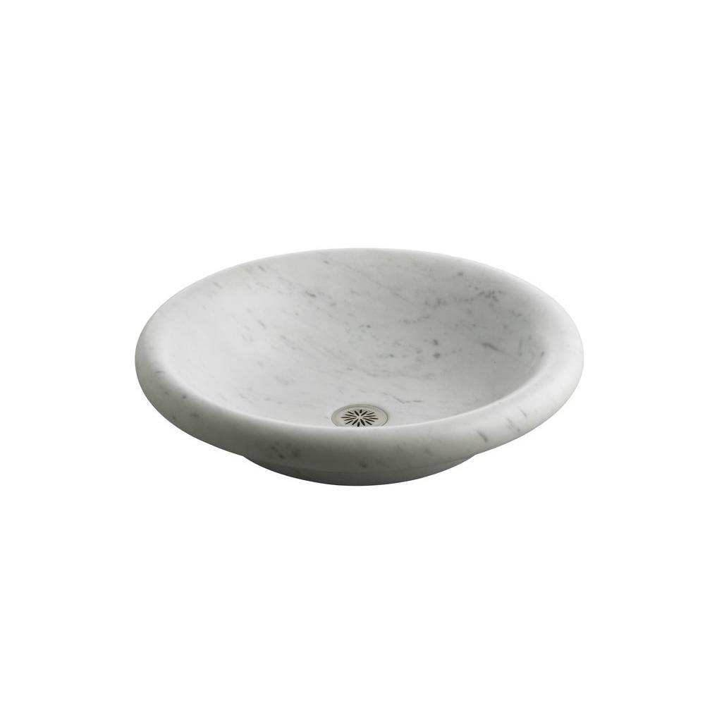 Kohler Botticelli Vessels Carrara Marble Vessel Sink In White