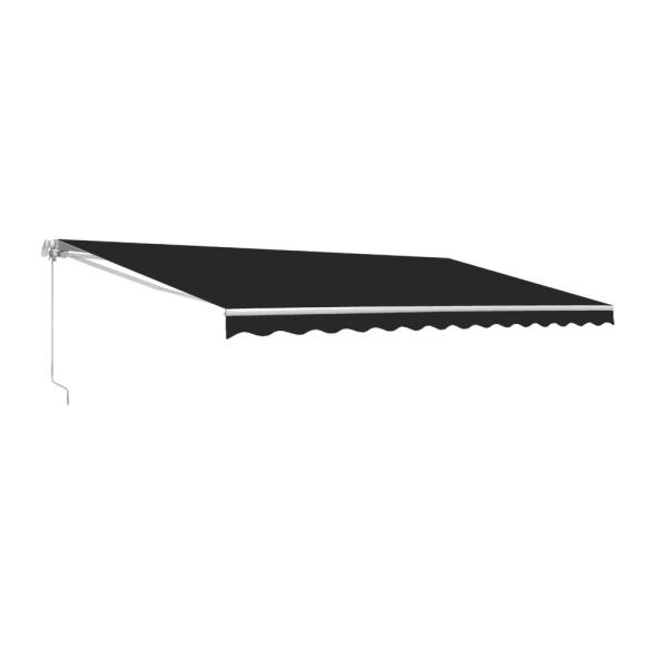 13 ft. Manual Patio Retractable Awning (120 in. Projection) in Black