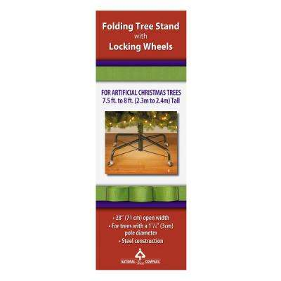 28 in. Metal Revolving Tree Stand