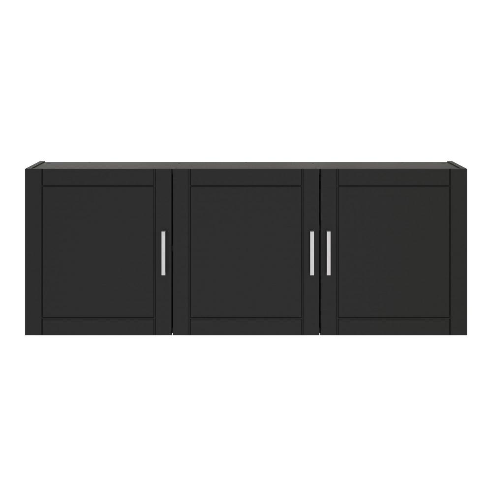 Magnificent Ameriwood Home Kai 20 31 In H X 54 In W X 12 44 In D Wall Cabinet In Black Interior Design Ideas Ghosoteloinfo