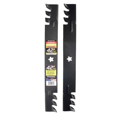 2-Blade Commercial Mulching Set for 42 in. Cut Craftsman/Husqvarna/Poulan Mowers Replaces OEM No. 134149 and Many More