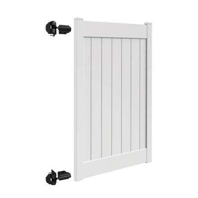 Linden 4 ft. W x 6 ft. H White Vinyl Un-Assembled Fence Gate