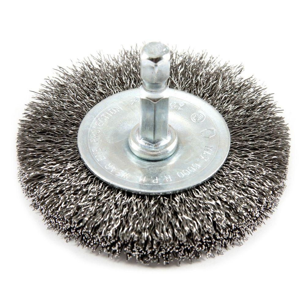 Forney 2-1/2 in. x 1/4 in. Fine Crimped Wire Wheel Brush-72734 - The ...