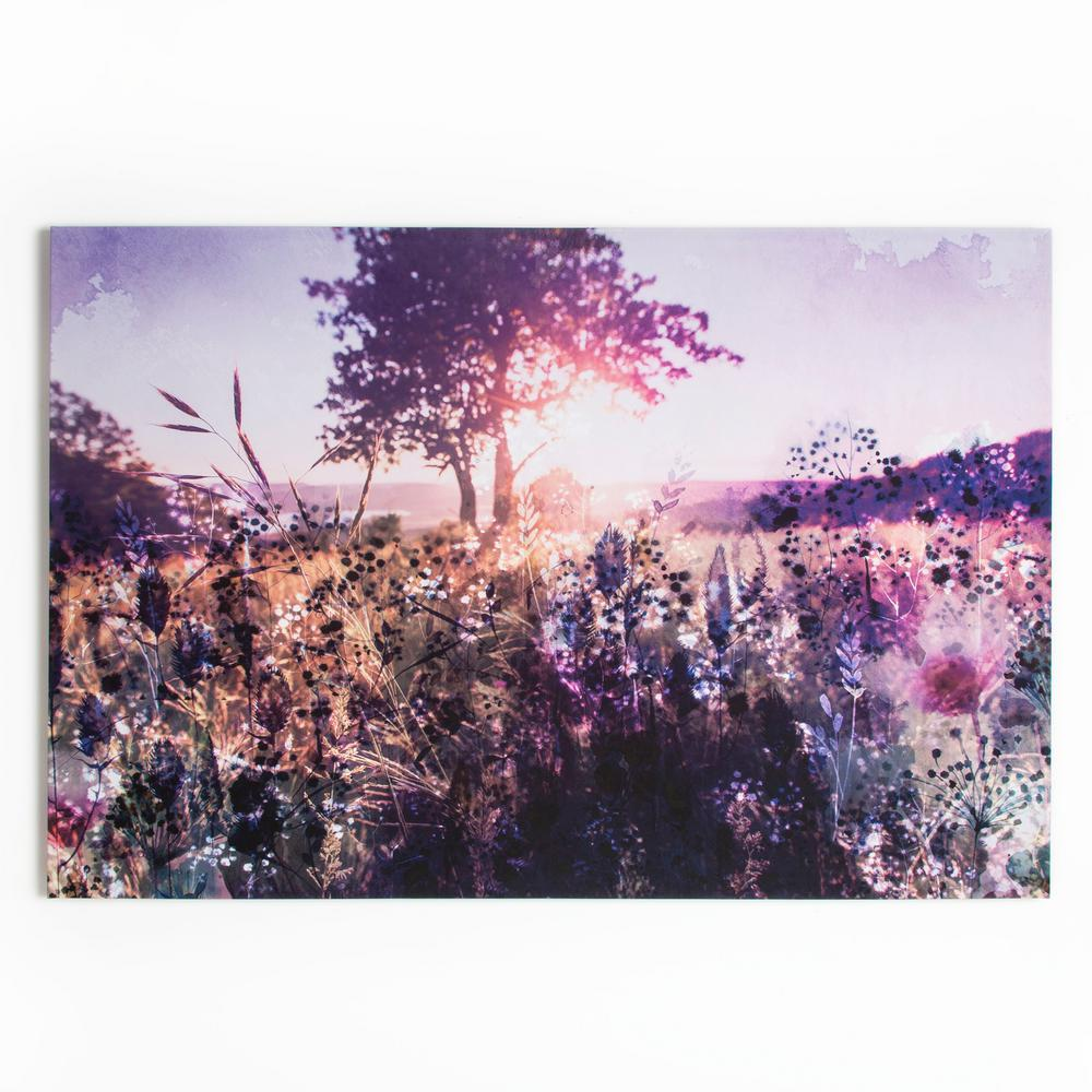 """31 in. x 47 in. """"Layered Landscape"""" Printed Canvas Wall Art"""