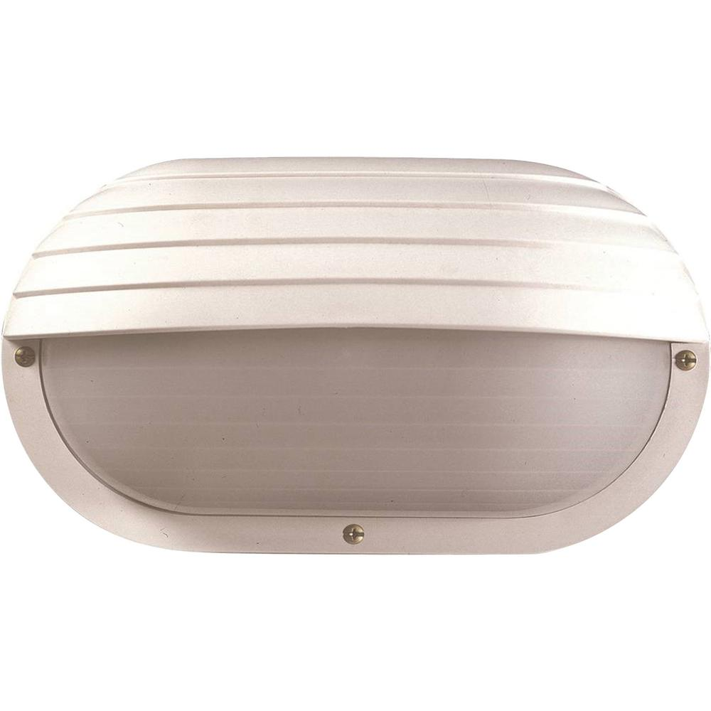 Volume Lighting Mini 1 Light White Polycarbonate Outdoor Ceiling Flush Mount Wall Sconce With Half Oval Sphere
