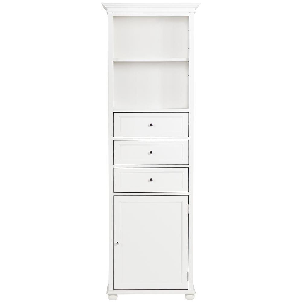 Home Decorators Collection Hampton Harbor 22 in. W x 10 in. D x 67-1/2 in. H Linen Cabinet in White
