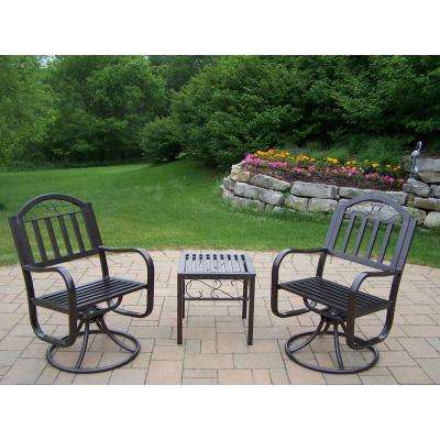 Rochester 3 Piece Patio Swivel Chair Set