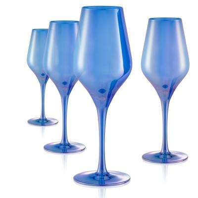 16 oz. Goblet Red Wine Glasses in Blue (Set of 4)