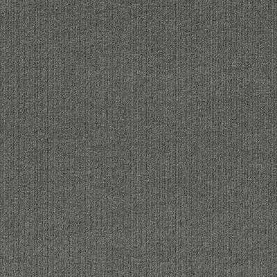 Premium Self-Stick First Impressions Sky Grey Ribbed Texture 24 in. x 24 in. Carpet Tile (15 Tiles/Case)