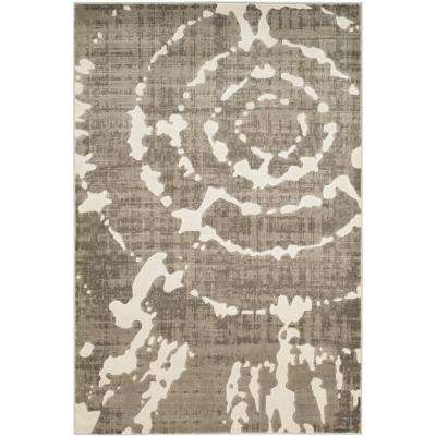 Porcello Grey/Ivory 4 ft. 1 in. x 6 ft. Area Rug