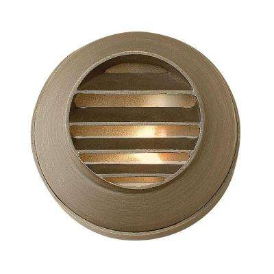 Low-Voltage 20-Watt Matte Bronze Hardy Island Cast Brass Grill Deck Sconce
