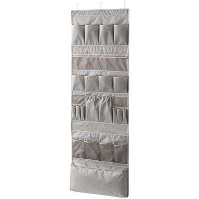 Harmony Twill 25-Pocket Fabric Over-the-Door Hanging Accessory Rack