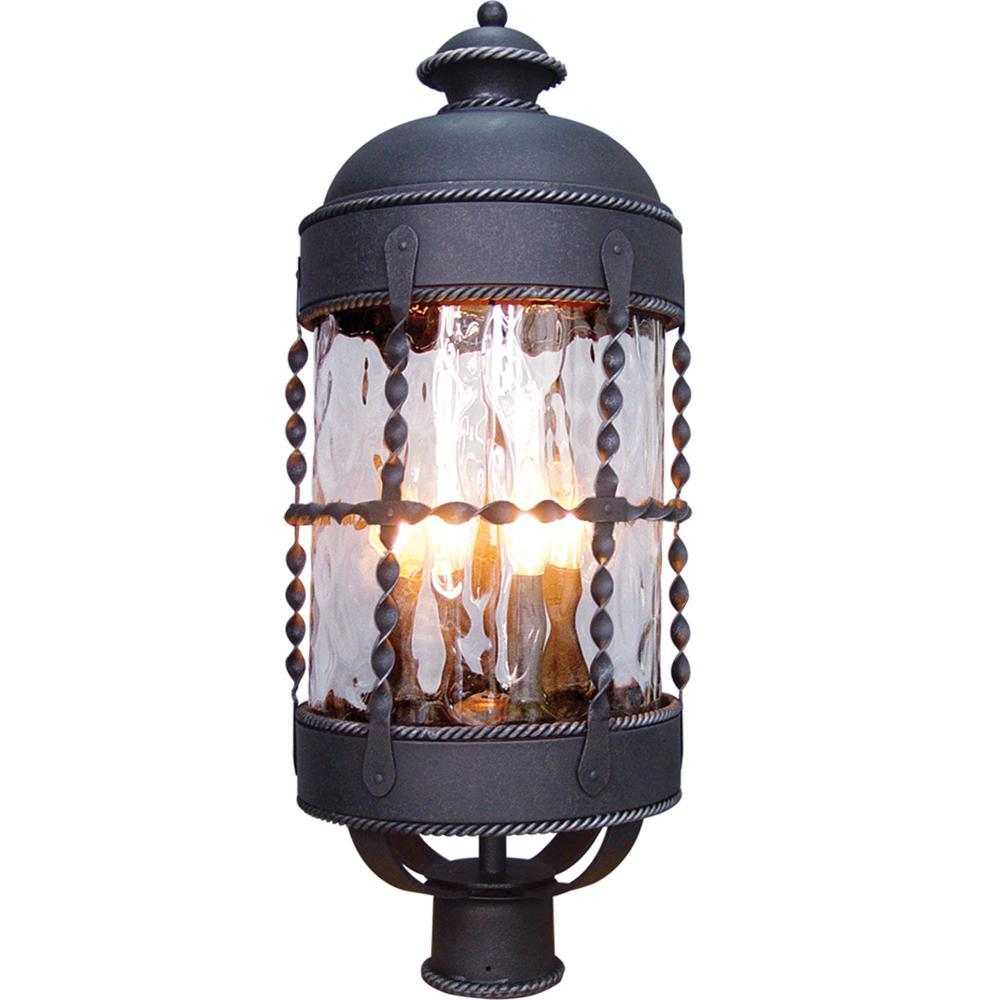 Orleans 4-Light Blacksmith Outdoor Post Mount