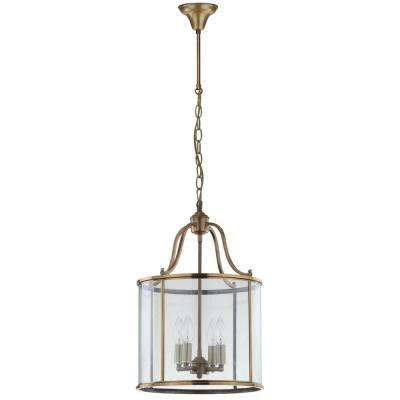 Sutton Place 4-Light Brass Medium Pendant