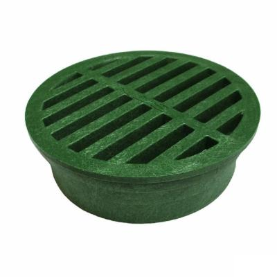 3 in. Plastic Round Drainage Grate in Green