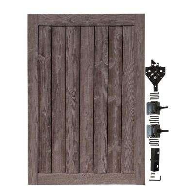 4 ft. W x 6 ft. H Ashland Walnut Brown Composite Privacy Fence Gate