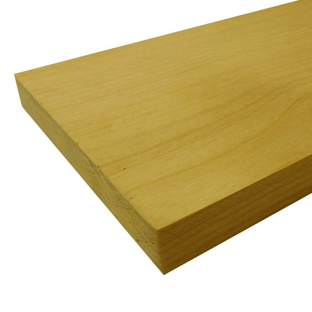 Alder Board (Common: 3/4 in. x 3-1/2 in. x R/L; Actual: