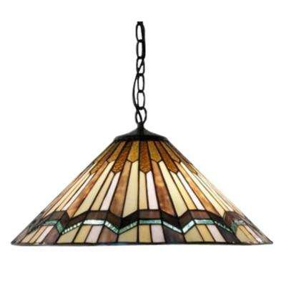 Arrow Head 2-Light Brown Hanging Lamp