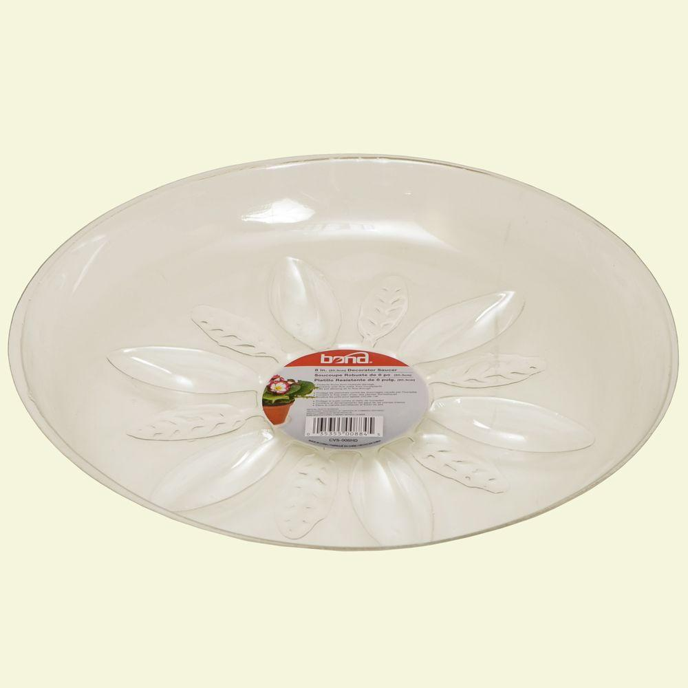 Bond Manufacturing 8 in. Heavy Duty Clear Plastic Saucer