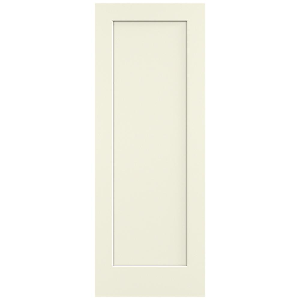 Jeld wen 32 in x 80 in madison vanilla painted smooth for Solid core mdf interior doors