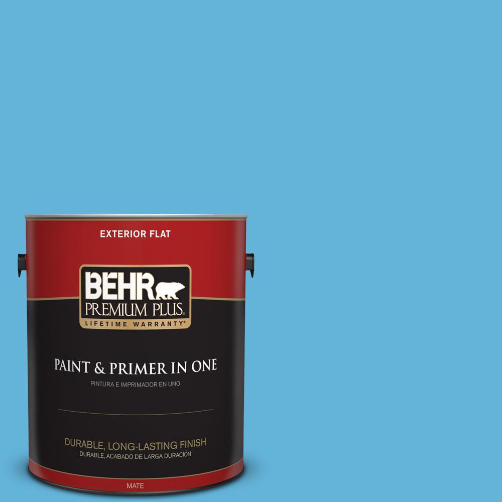 1-gal. #540B-5 Riviera Blue Flat Exterior Paint