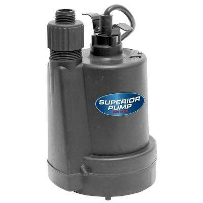 1/5 HP Submersible Thermoplastic Utility Pump