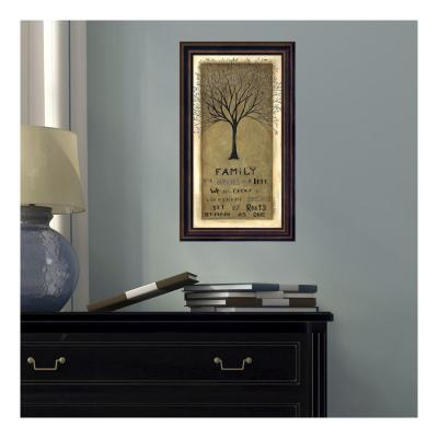 10 in. W x 17 in. H 'Family Tree' by Cindy Shamp Printed Framed Wall Art