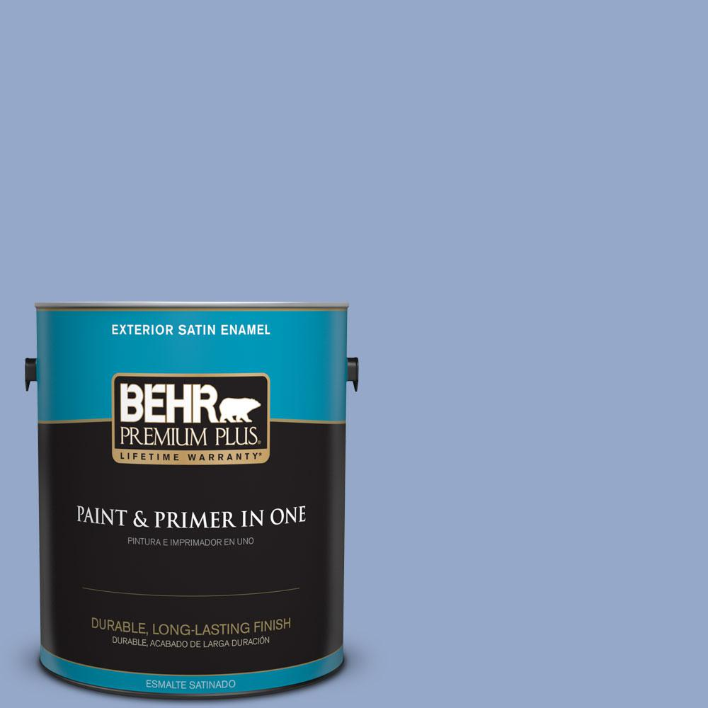 BEHR Premium Plus 1-gal. #600D-4 Finesse Satin Enamel Exterior Paint