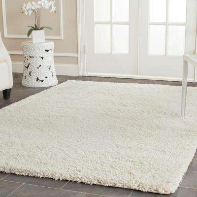 California Shag Ivory 5 ft. 3 in. x 7 ft. 6 in. Area Rug