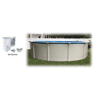 24 ft. x 52 in. Round Steel Wall Above Ground Pool and Skimmer