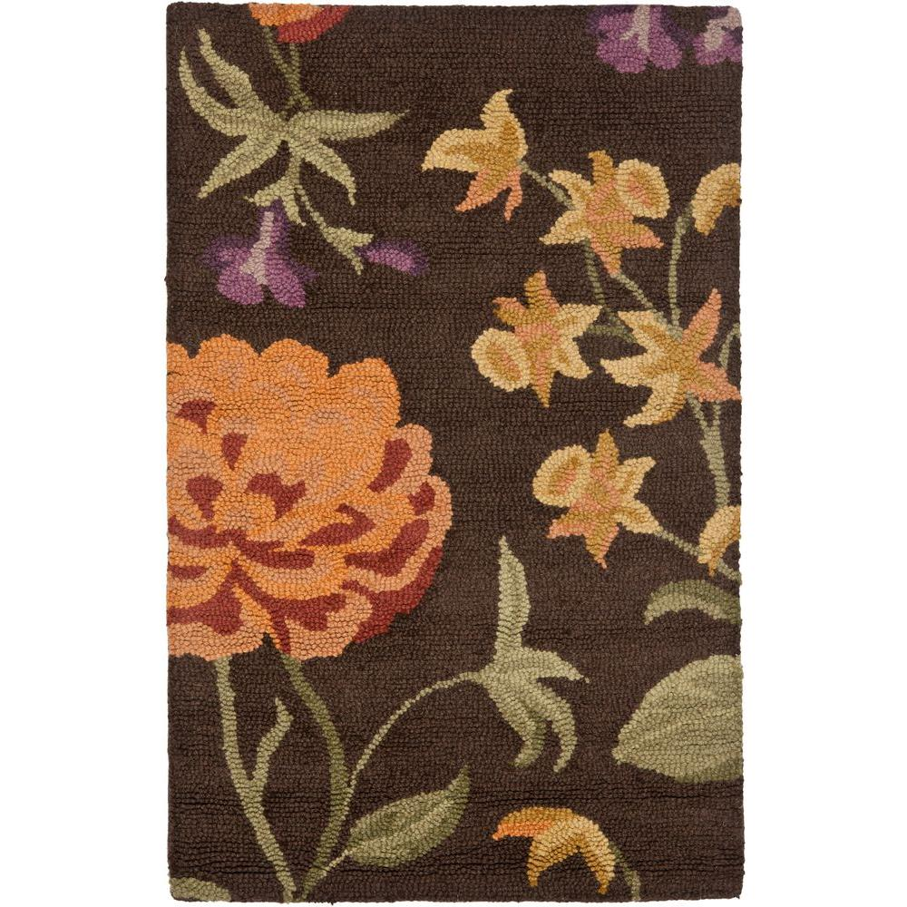 Blossom Brown/Multi 3 ft. x 5 ft. Area Rug
