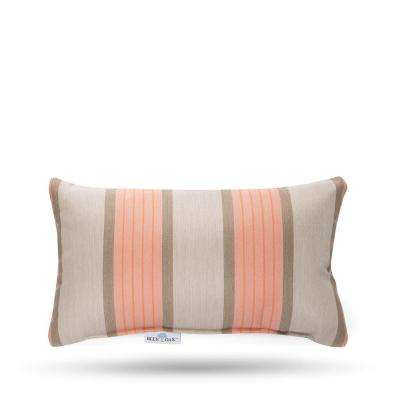 Sunbrella Cove Cameo Rectangular Lumbar Outdoor Throw Pillow (2-Pack)