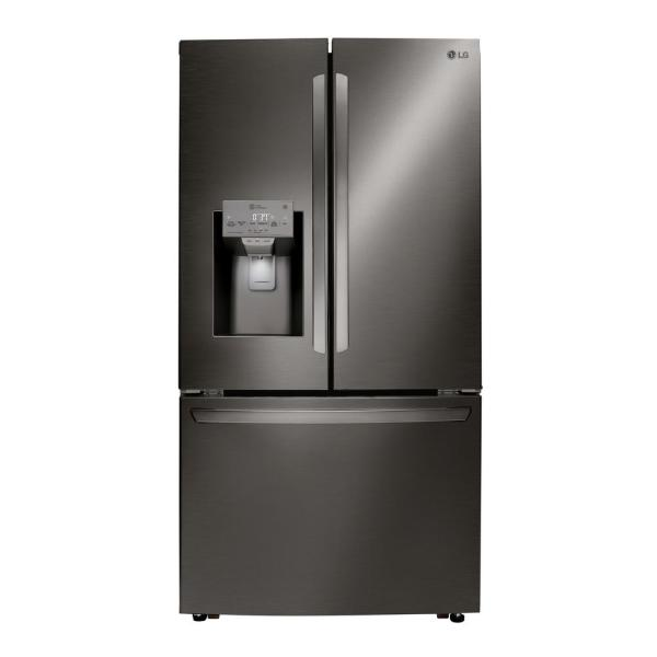 LG Electronics 24 cu. ft. French Door Refrigerator in Printproof Black Stainless Steel