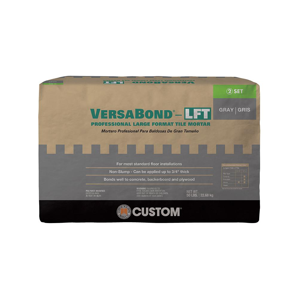 Custom Building Products VersaBond-LFT 50 lb. Gray Fortified Medium Bed Mortar