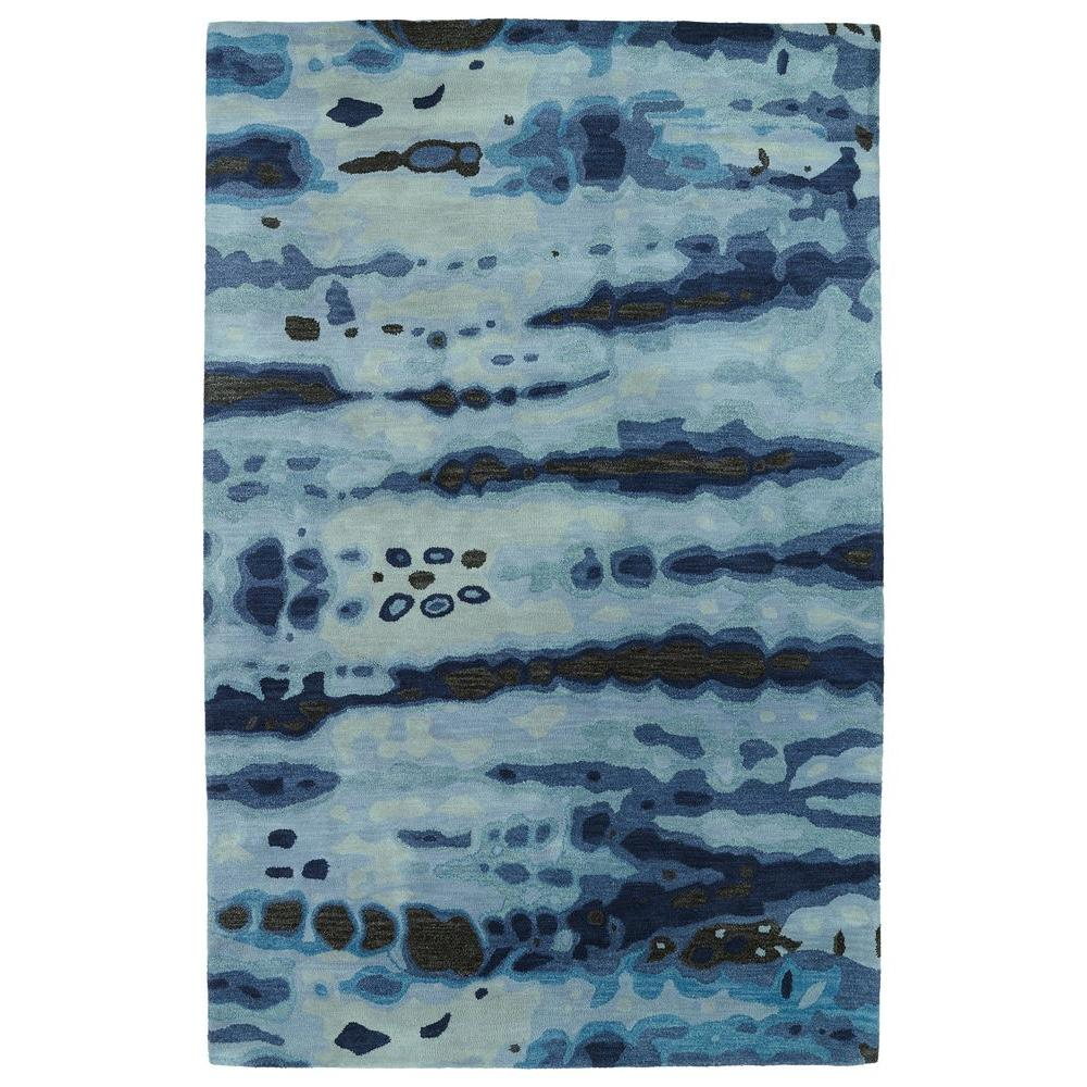 Brushstrokes Blue 5 ft. x 7 ft. 9 in. Area Rug