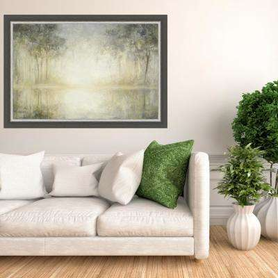 28.5 in x 40.5 in 'Morning Mist' by Julia Purinton Textured Paper Print Framed Wall Art