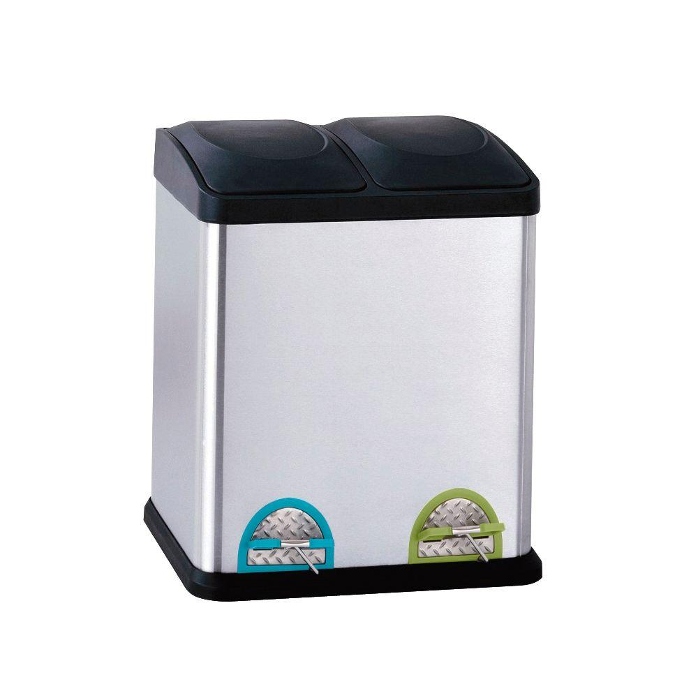 Neu Home 7.93 Gal. Stainless Steel Step-On With 16 In