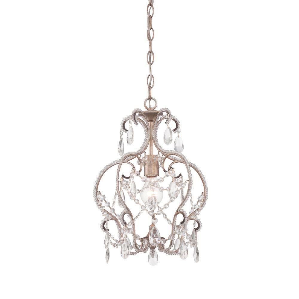 Calla 1-Light Argent Silver Mini Chandelier