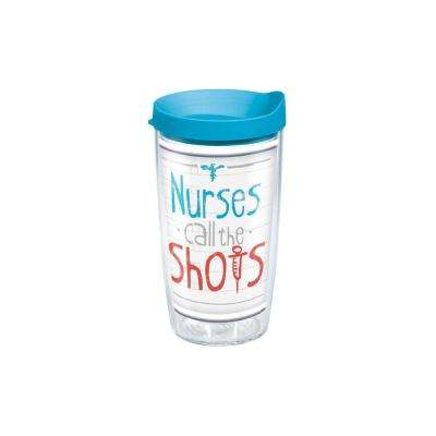 Nurses Call The Shots 16 oz. Double Walled Insulated Tumbler with Travel Lid