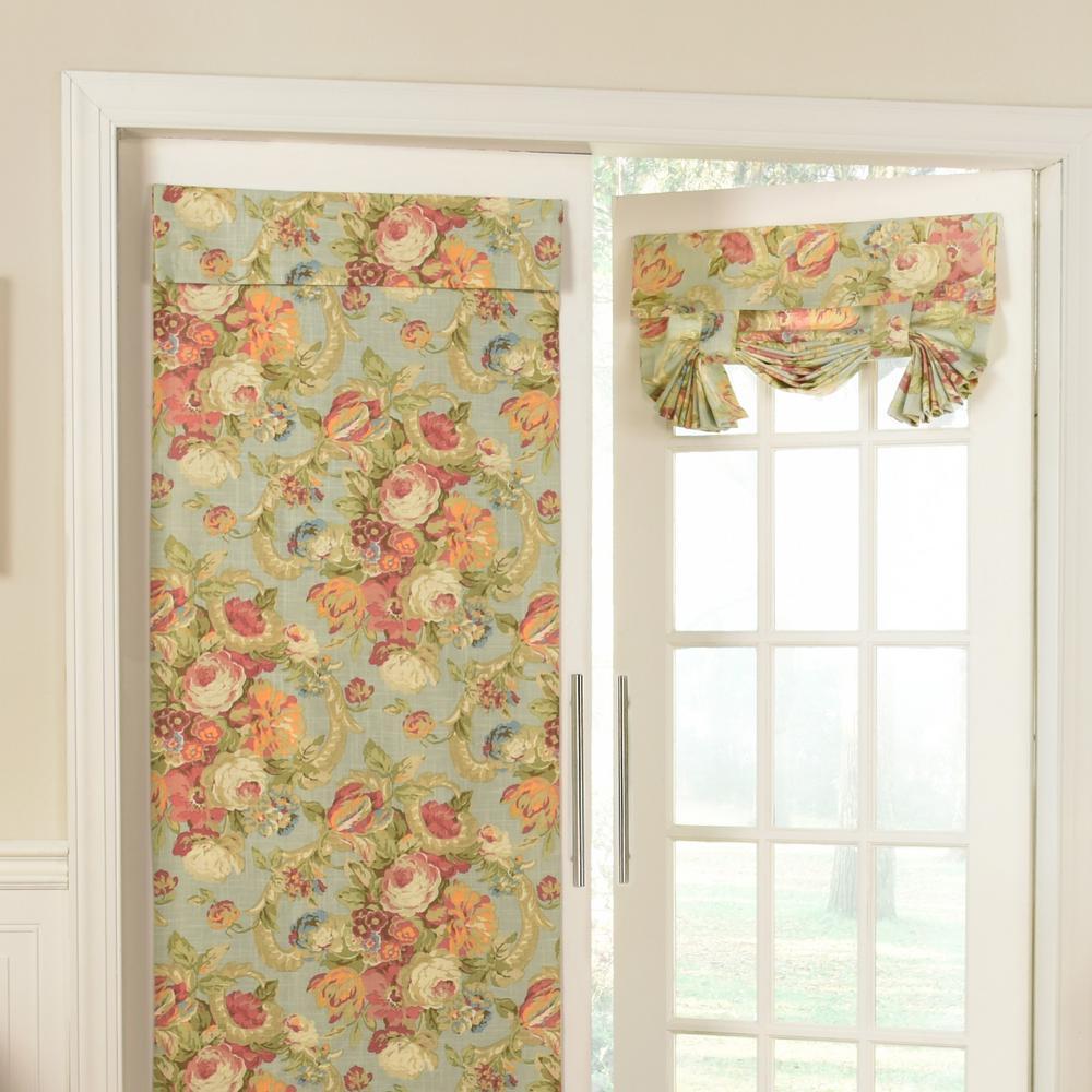 26 in. W x 68 in. L Spring Bling Window Door Panel in Vapor