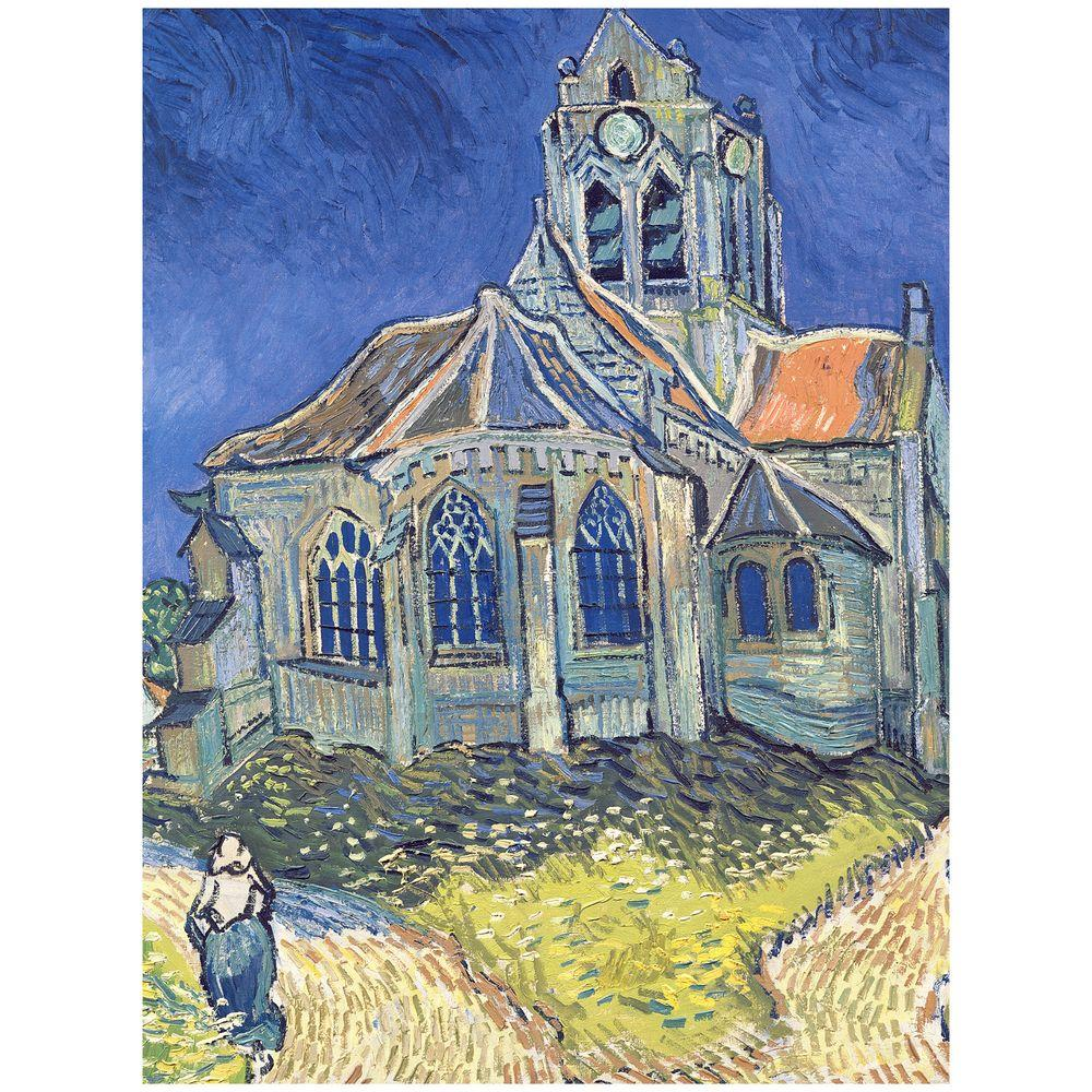 Trademark Fine Art 35 in. x 47 in. Church at Auvers-sur-Oise, 1890 Canvas Art