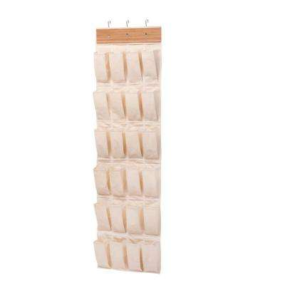 Over-the-Door 24-Pocket Shoe Organizer in Bamboo
