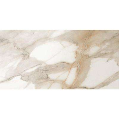 Impero Calacatta Oro 12 in. x 24 in. Polished Porcelain Floor and Wall Tile (11.63 sq. ft. / case)