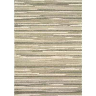 Water Color Grey 8 ft. x 10 ft. Area Rug
