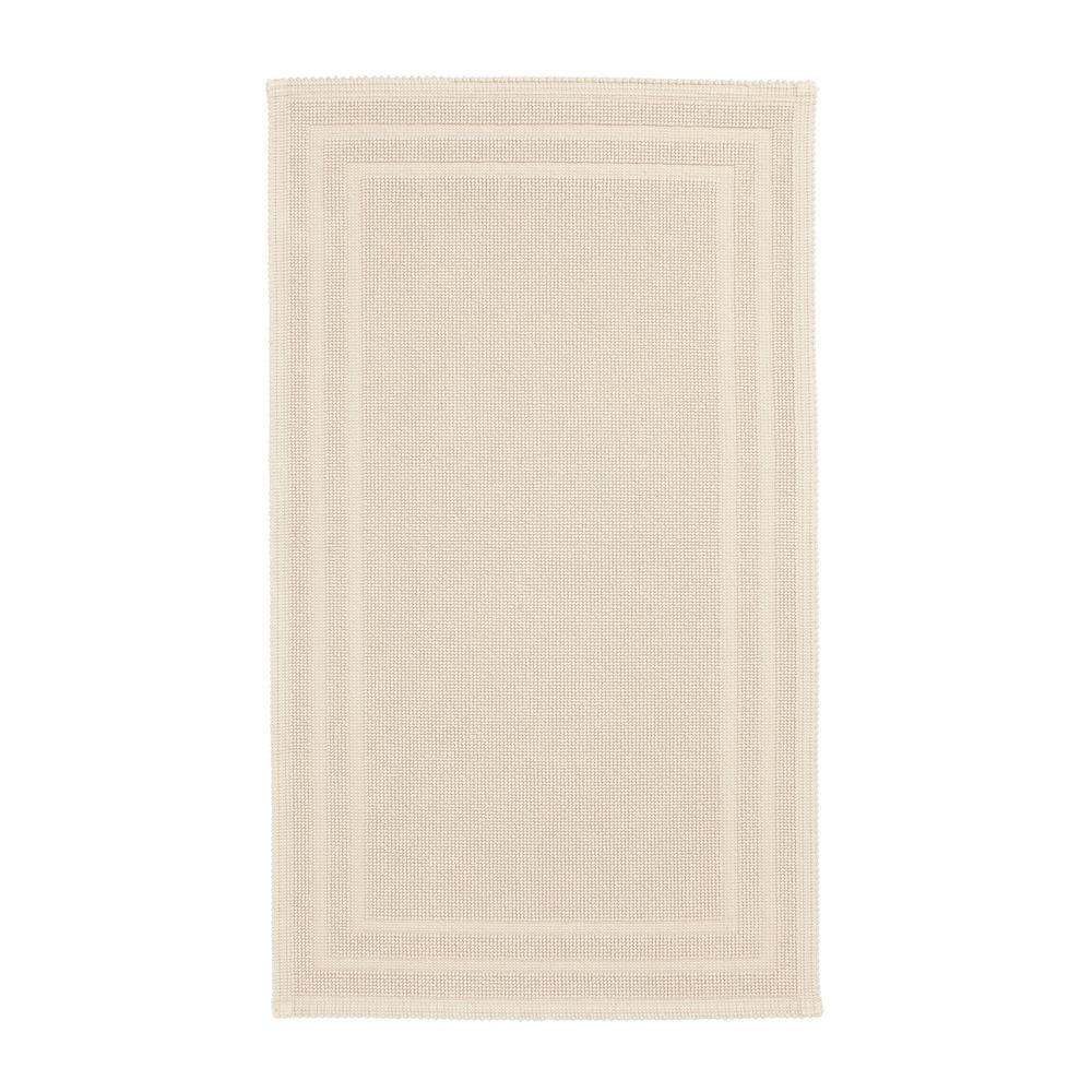 Legends Sterling Vanilla 30 in. x 50 in. Cotton Reversible Bath Mat