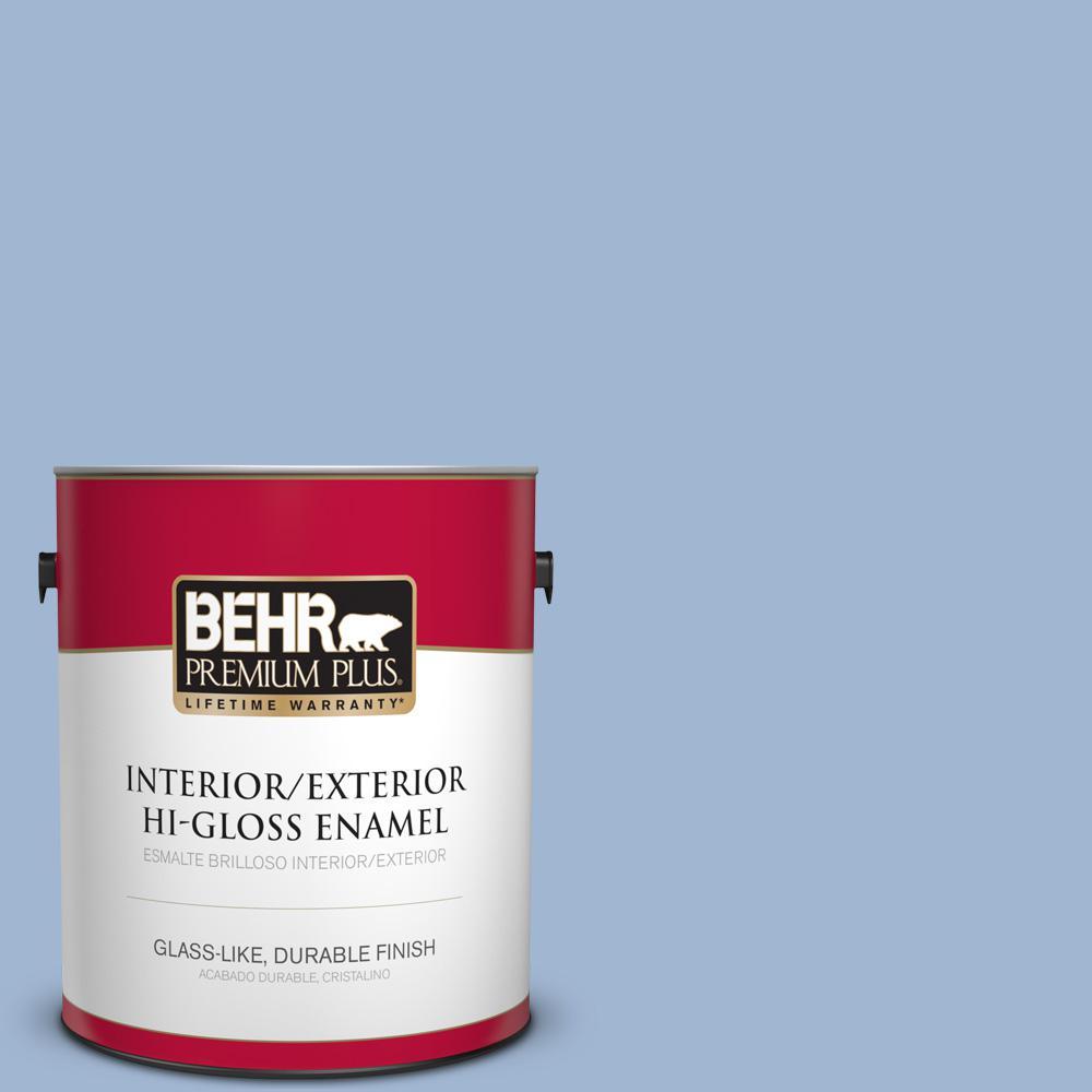 1 gal. #PPU14-10 Blue Suede Hi-Gloss Enamel Interior/Exterior Paint